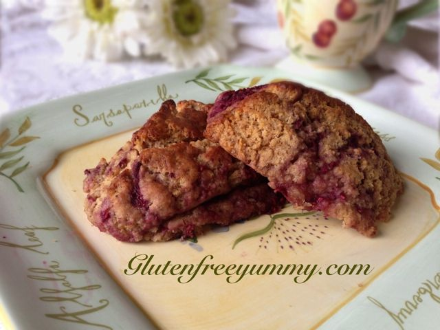 Gluten-free Orange Raspberry Scones