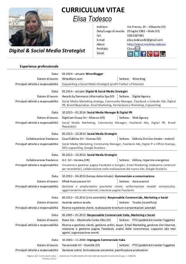 Curriculum Vitae 1 Pagina Modelos De Curriculum Vitae Hacer
