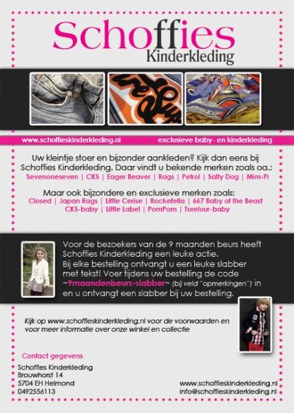 A5 Flyer voor Schoffies Kinderkleding