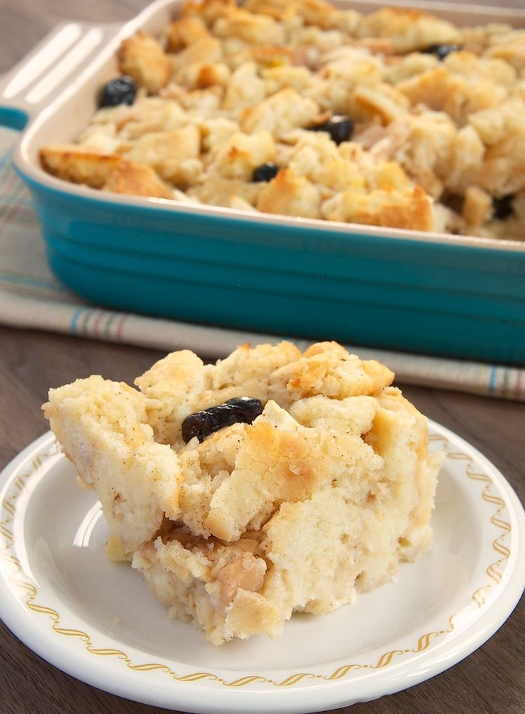 Bread pudding made with biscuits? Yes! Try this Apple, Pear, and Cranberry Biscuit Pudding for a special treat for breakfast, brunch, or dessert. - Bake or Break