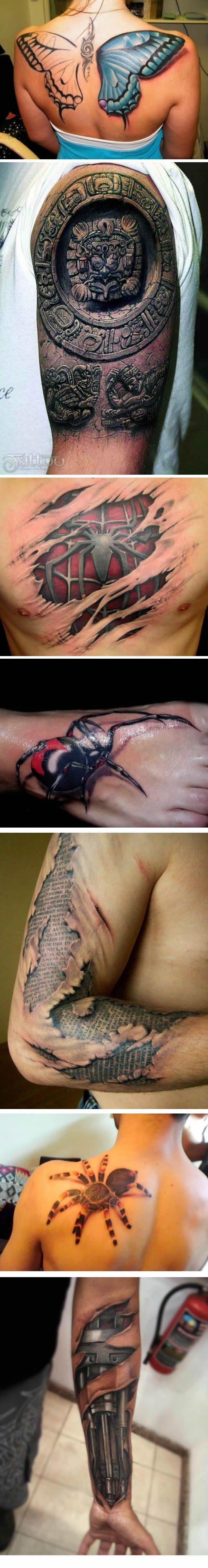 3D Tattoos if I can get an Egyptian one like the Mayan (?) Incan(?) tat I am all over it.