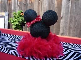 Minnie head centerpiece
