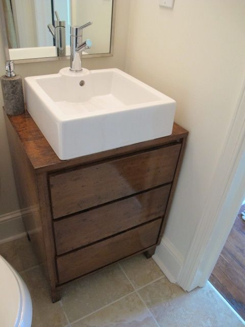 25 Midcentury Nightstand Makes A Nice 1 2 Bath Vanity In