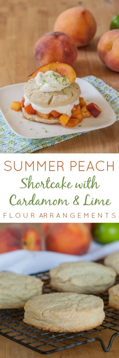 With a hint of cardamom, these shortcakes pair perfectly with sweet peaches brightened with lime zest. This peach shortcake recipe is simple and delicious.