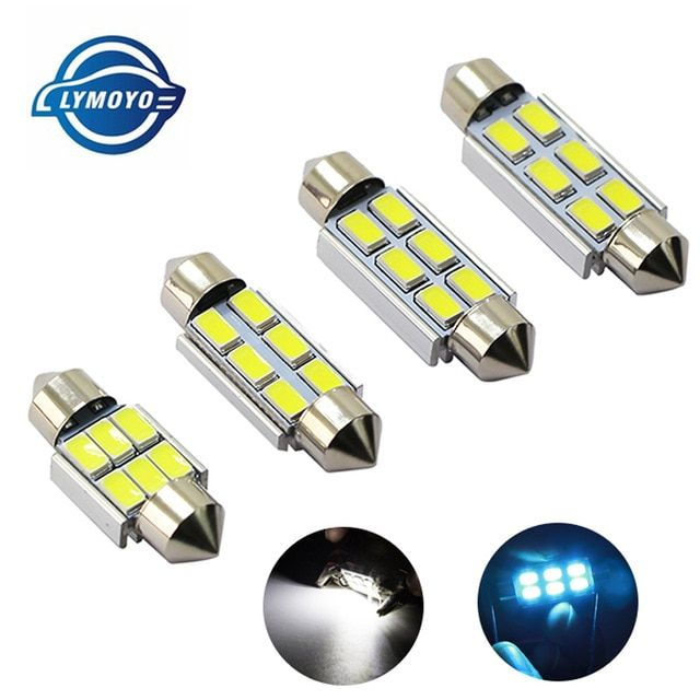 2 X white 6 SMD 5630 LED Car Interior Dome C5W Festoon Bulb Light Lamp 39mm 12V