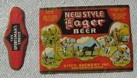 Unused New Style Lager Beer Label U-821 Otto's Brewery Inc Mantoville MN