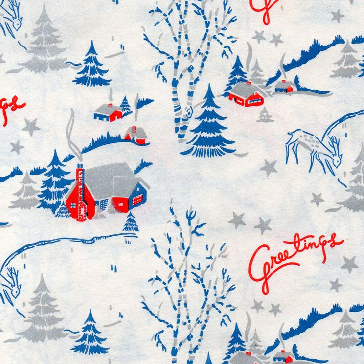 Mid century Christmas wrapping paper via Present & Correct