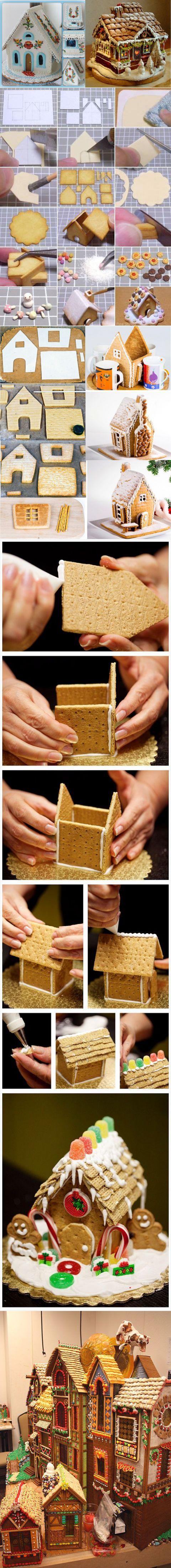 Праздничные пряничные домики своими руками - РукоделиеПраздничные пряничные домики своими руками - Рукоделие | Рождественский домик и Пряник | Постила