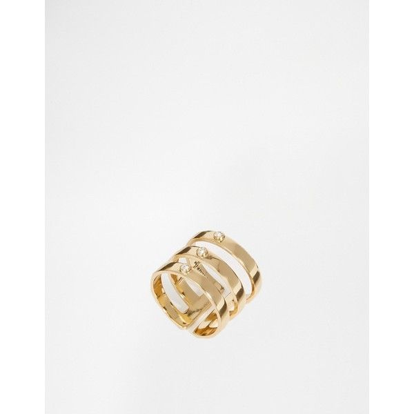 Pilgrim Simple Adjustable Ring ($20) ❤ liked on Polyvore featuring jewelry, rings, gold plated white, white ring, gold plated ring, white jewelry, pilgrim jewelry and pilgrim jewellery