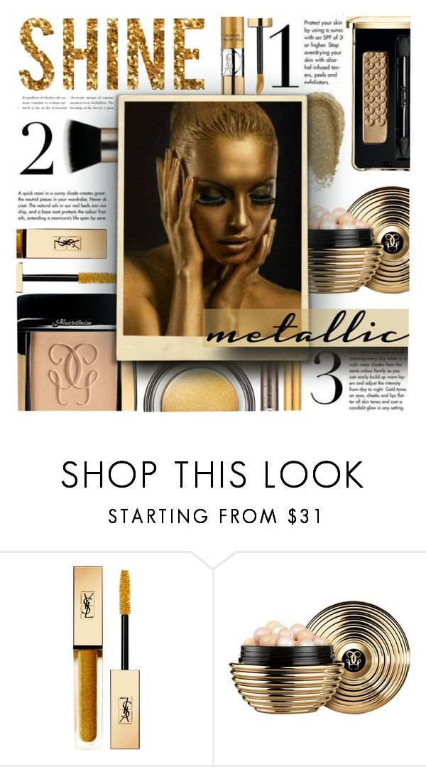 """""""AW17 - Make-up Trends"""" by foolsuk ❤ liked on Polyvore featuring beauty, John Lewis, Yves Saint Laurent and Guerlain"""