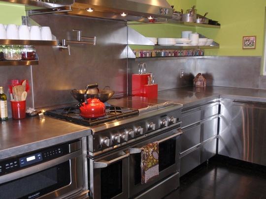 Kitchen Tour: David And Laurau0027s Modern Organic Remodel Miami, Florida. Stainless  Steel CountertopsStainless ...