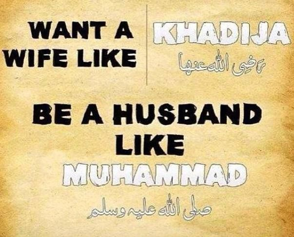 If all men looked up to our beloved prophet as the ultimate example of a perfect husband then maybe just maybe every wife will feel loved, respected and appreciated and then prephase the divorce rate in the Ummah wouldn't be so high
