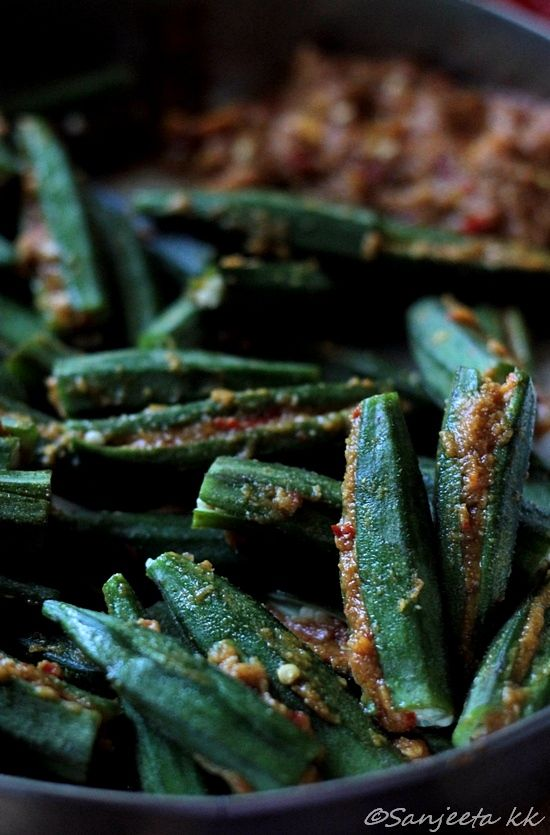 Easy Stuffed Okra Indian style! @Sanjeeta Banerjee kk #recipes #vegetarian #indian #food