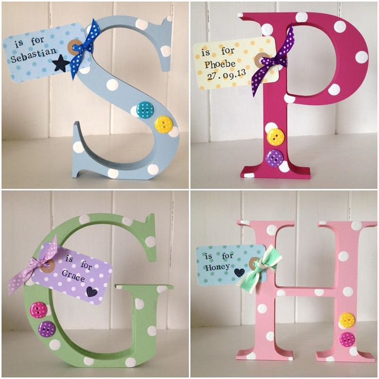 Personalised wooden initial letter Www.Littlelovedesigns.Bigcartel.Com