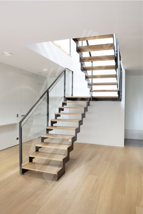 DT127 - ESCA'DROIT® 2 Quartiers Tournants avec Palier Intermédiaire. Escalier…