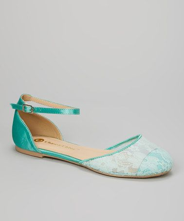Another great find on #zulily! Mint Ankle-Strap Lena Flat by Chase & Chloe #zulilyfinds