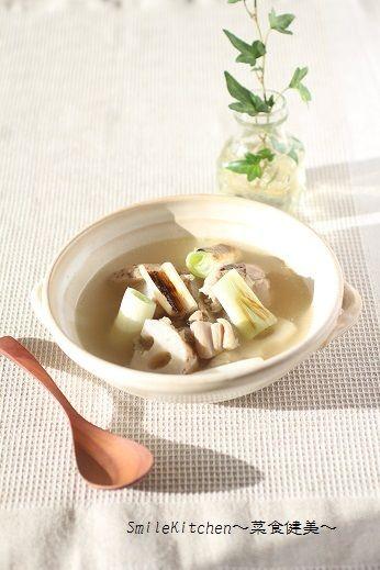 レシピ【風邪に効く&風邪予防になる!!長ネギと蓮根の生姜スープ】&実家でのお話し | SmileKitchen~菜食健美~