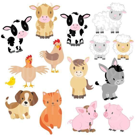 Baby Animal Clipart Baby Farm Animals Clipart Baby Shower Clipart Puppy Clipart Baby Farm Animals Clip Art