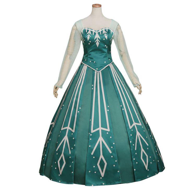 Snow Queen Ball Gown Costume Princess Elsa Dress Adult Women Lady Party Wedding Dress Custom Made #Affiliate