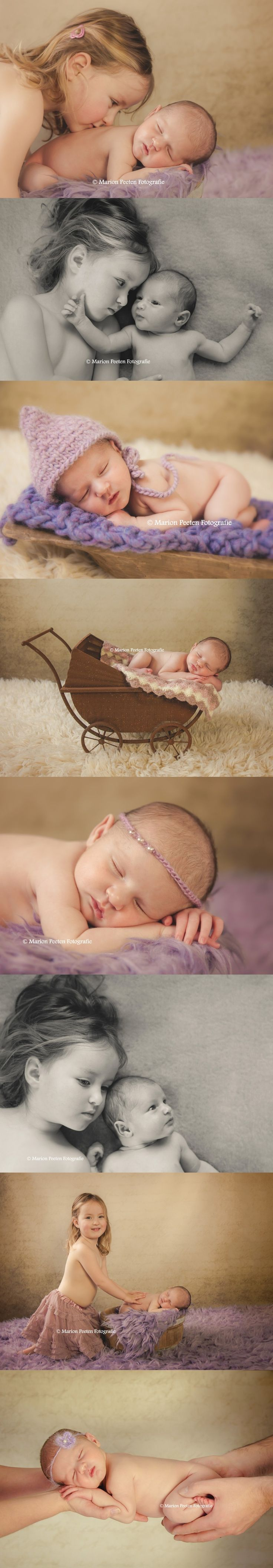 Newborn studio fotografie, Newborn studio photography with sister
