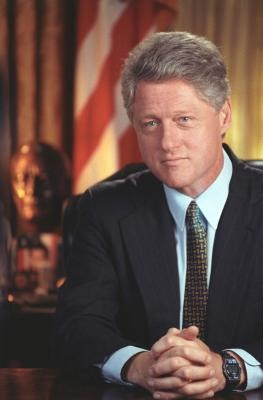 President Clinton's Official Portrait, August 5, 1994.  Photograph from the William J. Clinton Presidential Library.