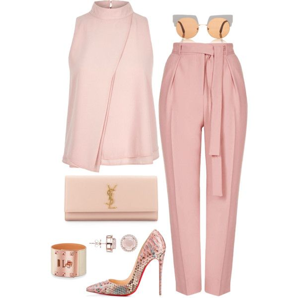 Breast Cancer Awareness by fashionkill21 on Polyvore featuring River Island…. Pink. Blush.