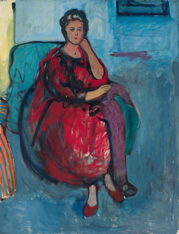 Robert De Niro, Sr., Woman in Red, 1961 (Courtesy of the Estate of Robert De Niro, Sr. and DC Moore Gallery, New York.)