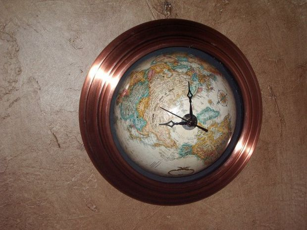 Build a globe clock. Have an old globe how cool would this be