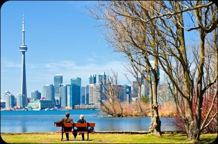 Toronto Centre Island view.