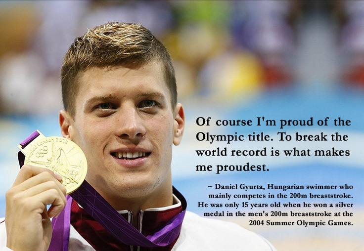 #Swimming legend Daniel Gyurta, Hungarian #breaststroke swimmer and #Olympic medalist