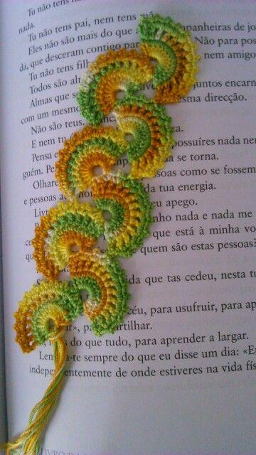Marcador de livro em crochet