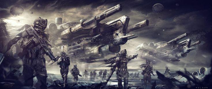 Image result for sci-fi war