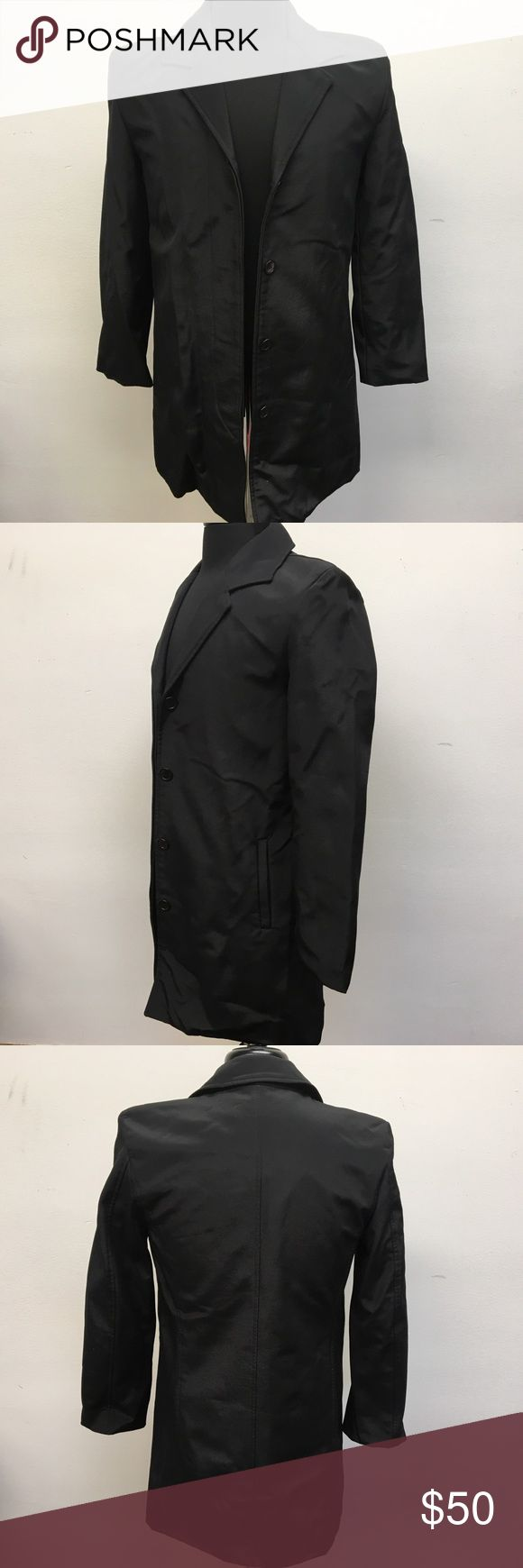 Andrew Marc Black Rain Coat Jacket Andrew Marc button front rain coat. Black in color. Size XS. Excellent Used Condition with no flaws. Andrew Marc Jackets & Coats