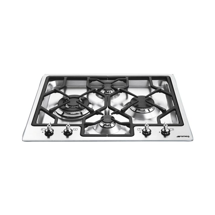 Smeg 60cm Gas Cooktop Stainless Steel Download product specification PDF