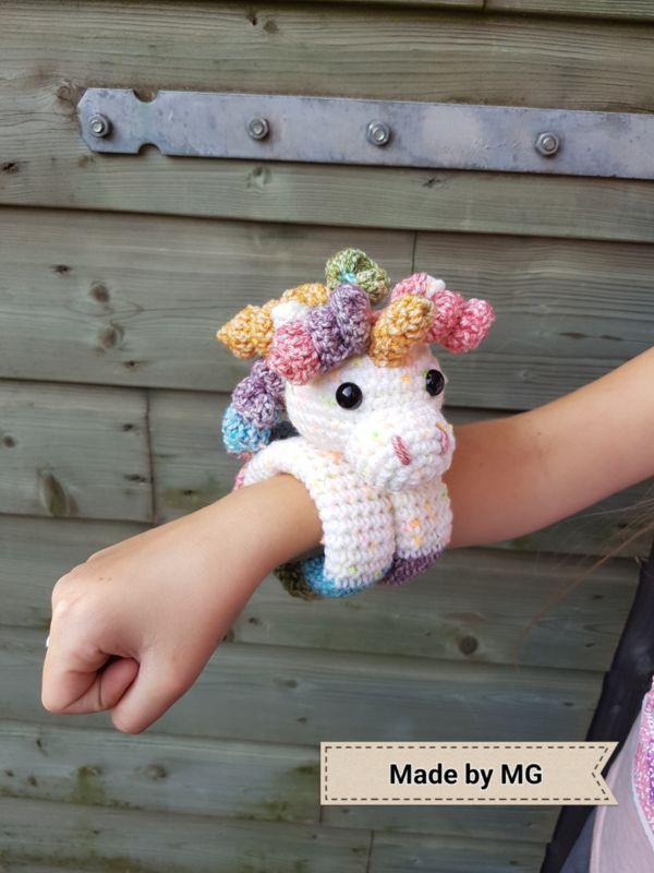 Knuffelarmband Unicorn Crochet Haken Pinterest