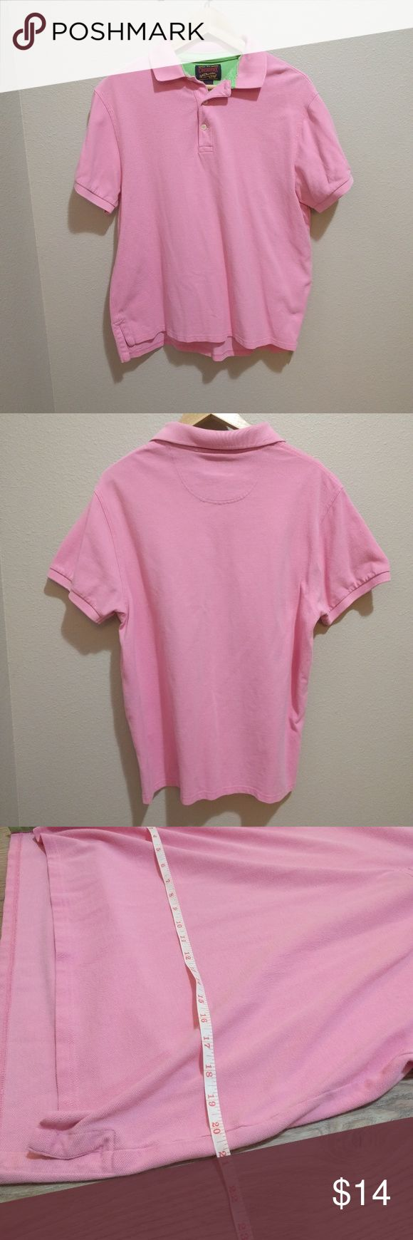 Men's Pink Polo Shirt Cremieux men's pink polo shirt in size large. Good condition. No rips or stains. Cremieux Shirts Polos