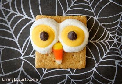 Owl Smores: For Kids, Food Ideas, Owl S More, Owl Smore, Snacks, Halloween Treats, Halloween Food, Graham Crackers, Owls