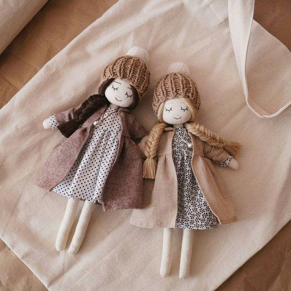 Dreaming Handmade Doll polka dots dress and by LerushaShop