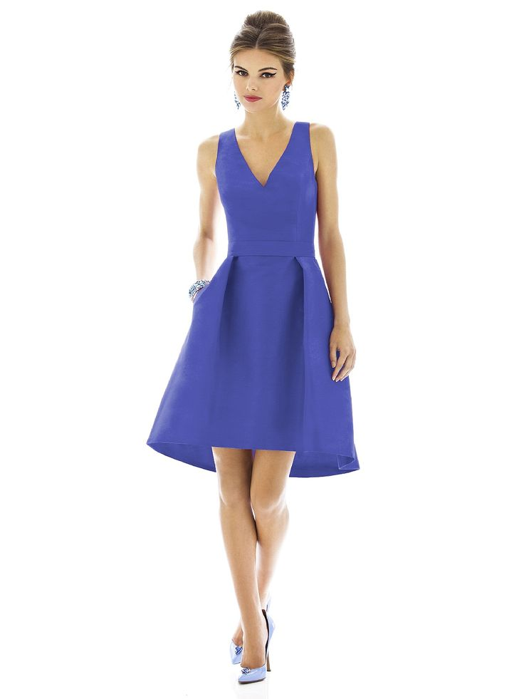 Alfred Sung Style D588    #blue #bridesmaid #dresses