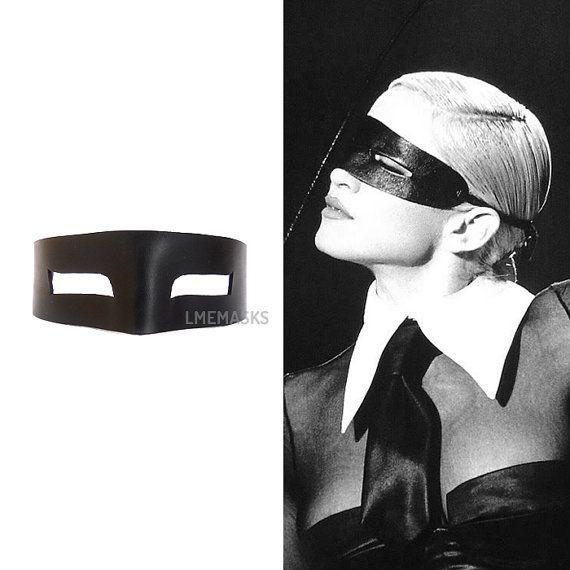 Madonna Erotica cuero negro máscara Domino Cosplay sencillo gato ladrón Masquerade gafas Sexy traje carnaval cumpleaños fiesta regalo de Halloween