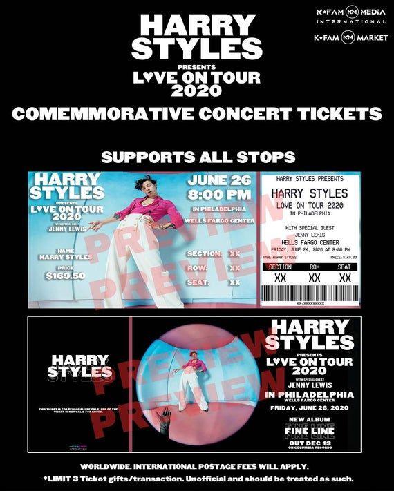 Harry Styles Presents Love On Tour 2020 Commemorative ...