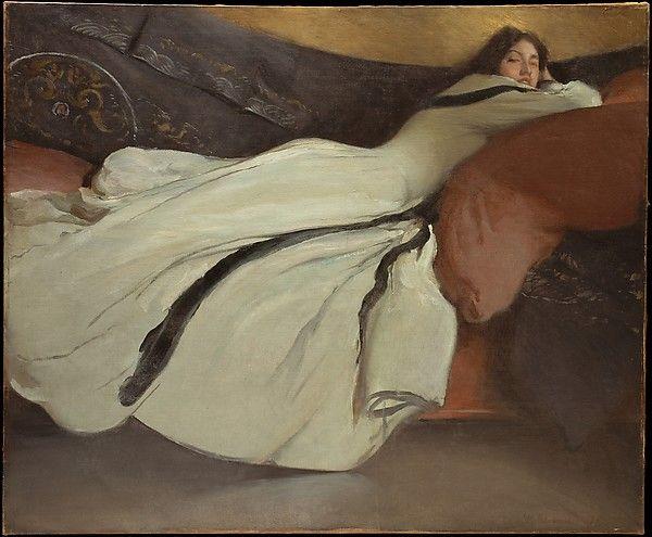 John White Alexander (1856–1915). Repose, 1895. The Metropolitan Museum of Art, New York. Anonymous Gift, 1980 (1980.224). #wedding #weddingdress