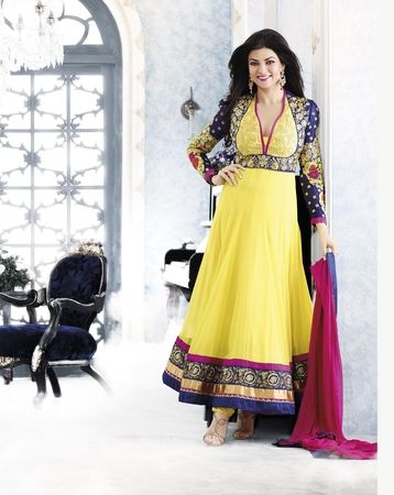 Sushmita Sen in Yellow Color Bollywood Salwar Suit.