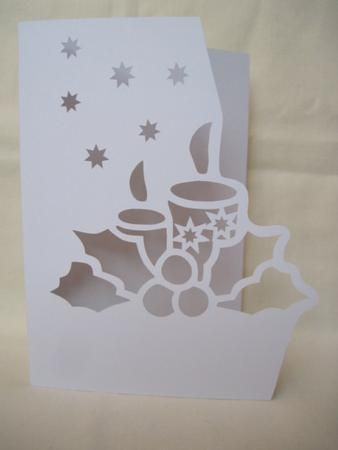 OVER THE EDGE CHRISTMAS CANDLES on Craftsuprint designed by Apetroae Stefan - In gsd format, with optional backing plate - Now available for download!