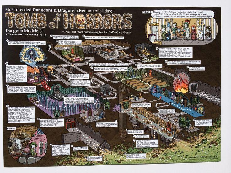 Tomb of Horrors Walkthrough Map Print (pre-order)