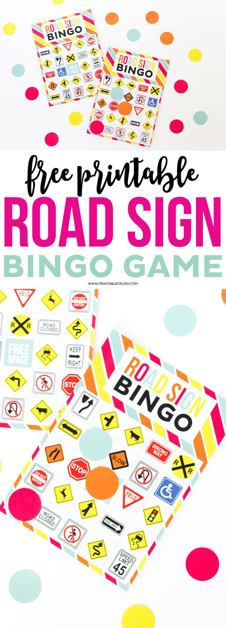 55 best road signs images on pinterest games kid stuff and free printable road sign bingo game it has cute colors i like robcynllc Images