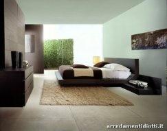 Letto camera da letto moderna colore scuro