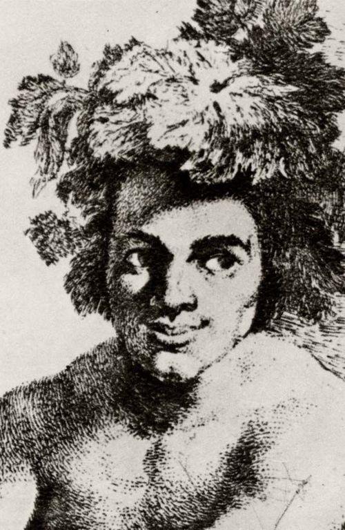 """Goya y Lucientes, Francisco de: Estudio Cabeza de Baco, de acuerdo con """"El triunfo de Baco"""" de Velázquez"""