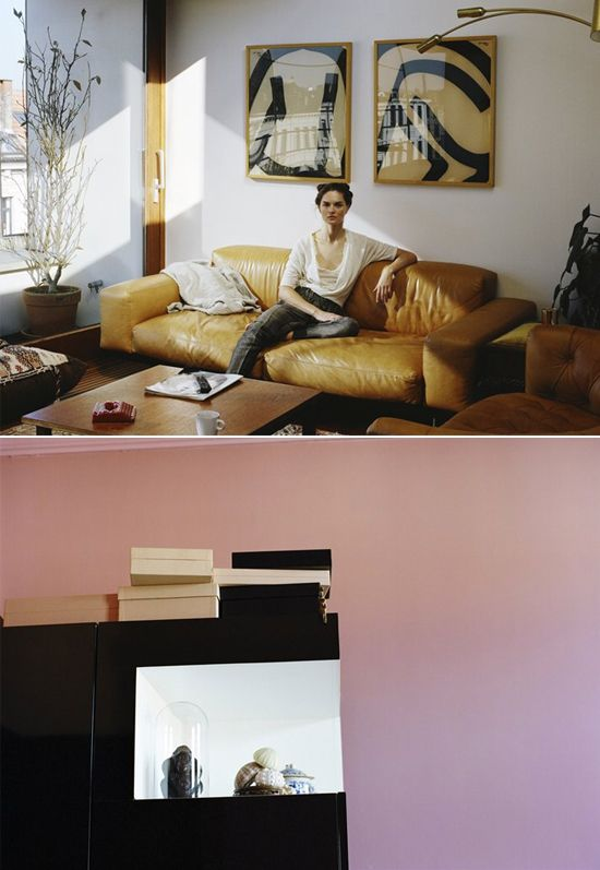 -: Leather Couch, Colors Schemes, Hair, Interesting Colors