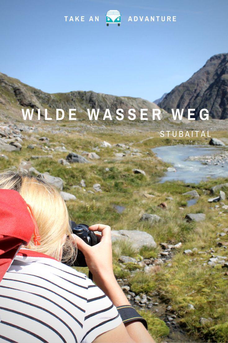 Wilde Wasser Weg, Stubaital. Ein Wanderweg mit verschiedenen Beanspruchungen für Körper und Seele, immer am Wasser entlang.